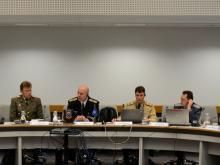 Председателството на NRFC по време на заседание