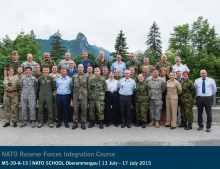 Курс за щабни офицери от резерва в Училището на НАТО в гр. Оберамергау, Германия